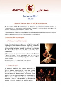 ashtar newsletter april 2020